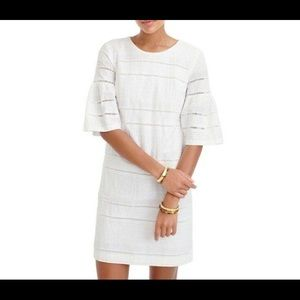 👗J.CREW Flutter Sleeve Eyelet Shift Dress